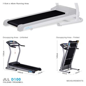 JLL D100 treadmill_measures